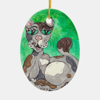 Claudia the Calico Cat Ornaments