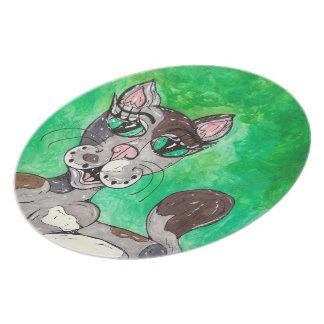 Claudia the Calico Cat Plate