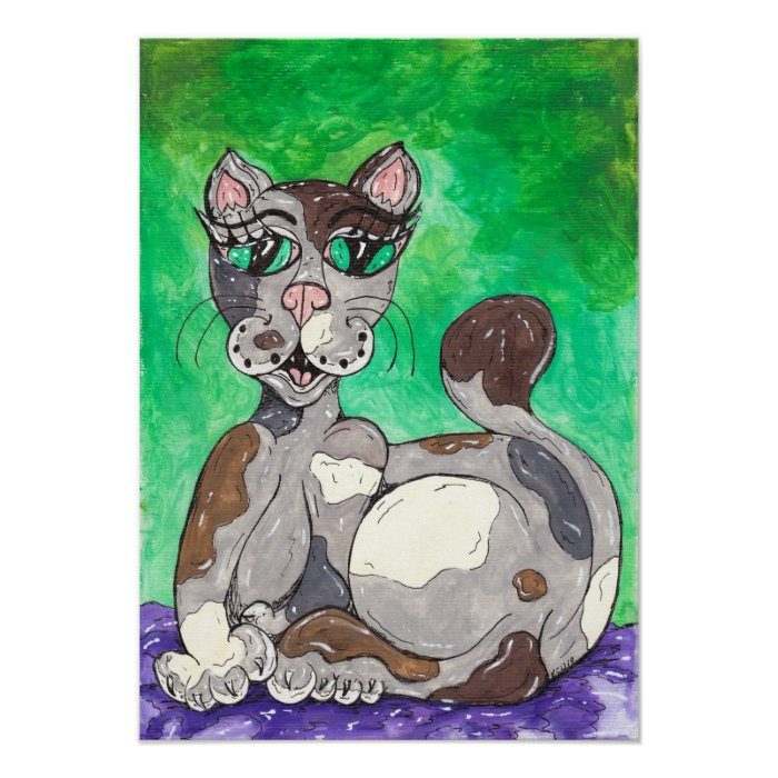 Claudia the Calico Cat Poster