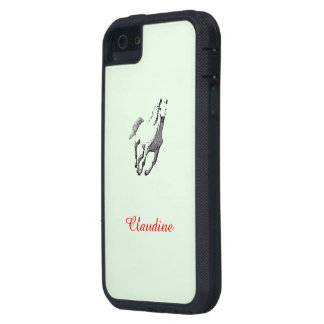 Claudine Green iPhone 5 case with Wild Horse