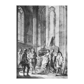 Claudio accusing Hero of faithlessness Canvas Print