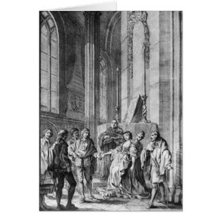 Claudio accusing Hero of faithlessness Card