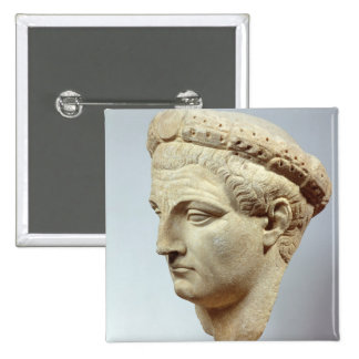 Claudius, marble head, 41-54 AD Button