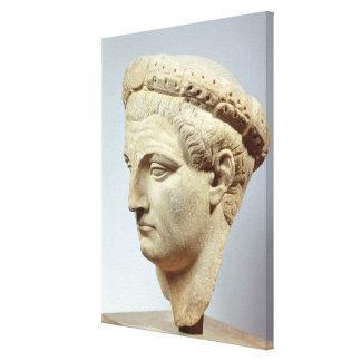 Claudius, marble head, 41-54 AD Canvas Print