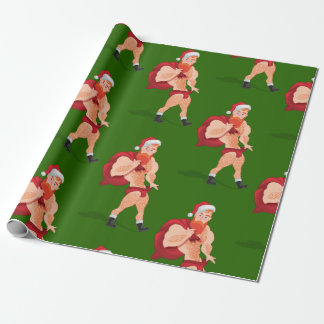 Claus saint wrapping paper