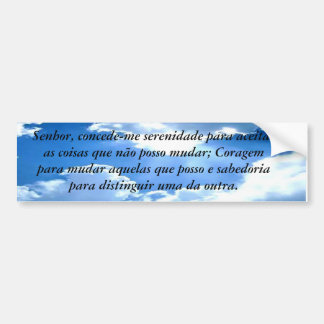 Clause of personalized and translated serenity car bumper sticker