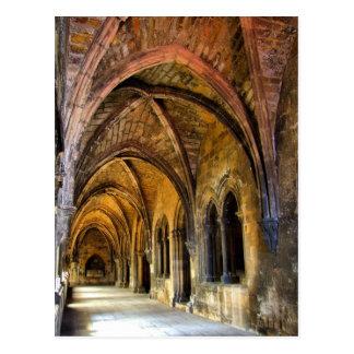 Claustro gótico de la catedral de Lisboa Tarjeta Postal