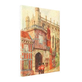 Claustros de herradura, castillo de Windsor, Lienzo Envuelto Para Galerias