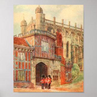 Claustros de herradura, castillo de Windsor, Póster