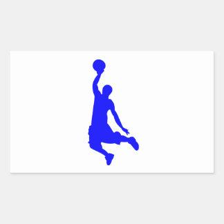 Clavada azul rectangular pegatina