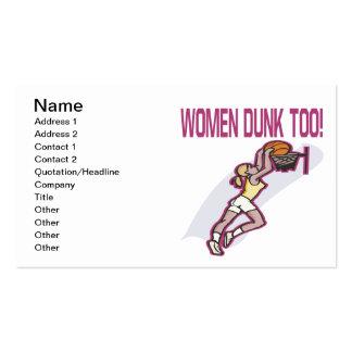 Clavada de las mujeres también plantilla de tarjeta de negocio
