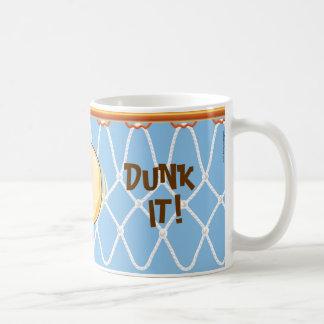 ¡Clavada de Net_blue_Donut del aro de baloncesto Taza Clásica