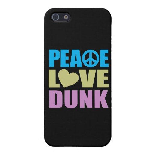 Clavada del amor de la paz iPhone 5 cobertura