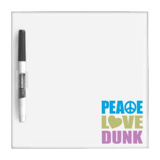 Clavada del amor de la paz tablero blanco