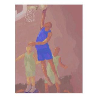 Clavada del baloncesto, postal