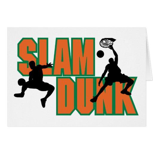 Clavada del baloncesto tarjeta de felicitación