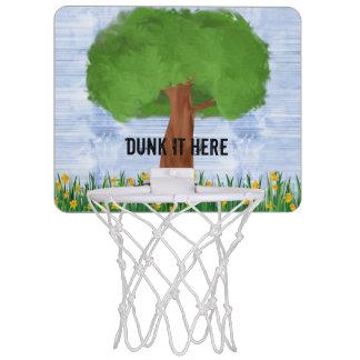 Clavada él aquí aro de baloncesto canasta mini