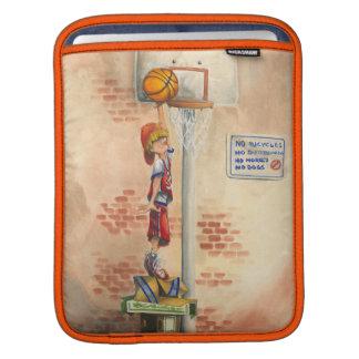Clavada en aro de baloncesto de Jay Throckmorton Fundas Para iPads