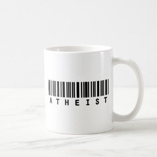 Clave de barras atea taza de café
