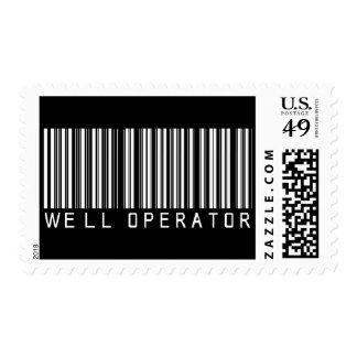 Clave de barras bien del operador sello