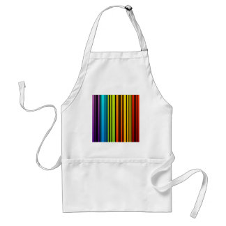 Clave de barras coloreadas del arco iris delantal