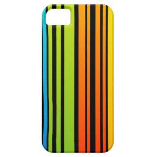 Clave de barras coloreadas del arco iris iPhone 5 protector