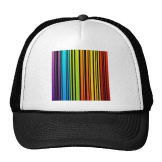 Clave de barras coloreadas del arco iris gorros bordados