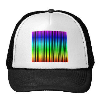 Clave de barras coloreadas del arco iris gorros