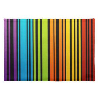 Clave de barras coloreadas del arco iris mantel