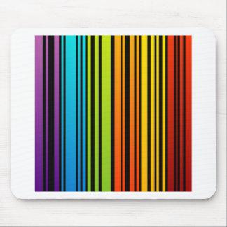 Clave de barras coloreadas del arco iris alfombrilla de ratón