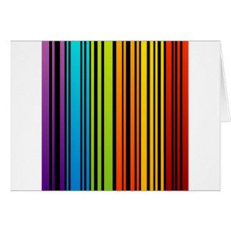 Clave de barras coloreadas del arco iris tarjeta de felicitación