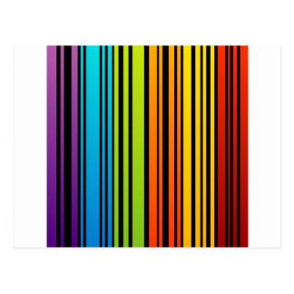 Clave de barras coloreadas del arco iris postal