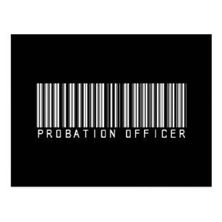 Clave de barras de la agencia de libertad vigilada tarjetas postales