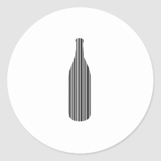 Clave de barras de la botella pegatina redonda