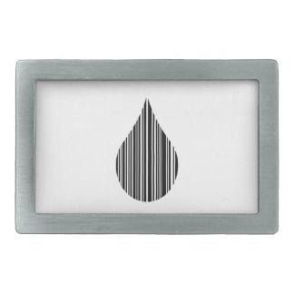 Clave de barras de la gotita hebillas de cinturón rectangulares