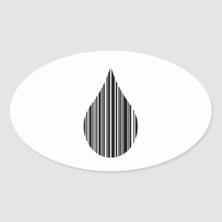 Clave de barras de la gotita pegatina ovalada