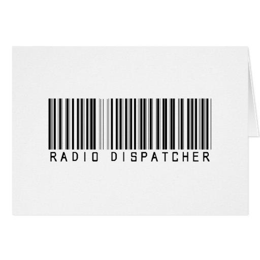 Clave de barras de radio del despachador tarjetón
