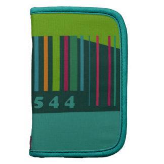 Clave de barras decorativa colorida planificador