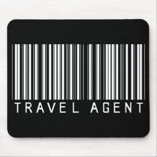 Clave de barras del agente de viajes mousepads