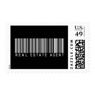 Clave de barras del agente inmobiliario franqueo
