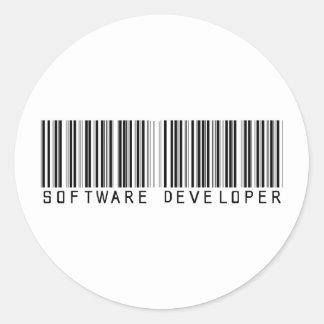 Clave de barras del analista de programas pegatina redonda