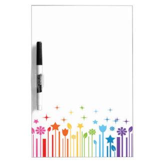 Clave de barras del arco iris pizarras blancas de calidad