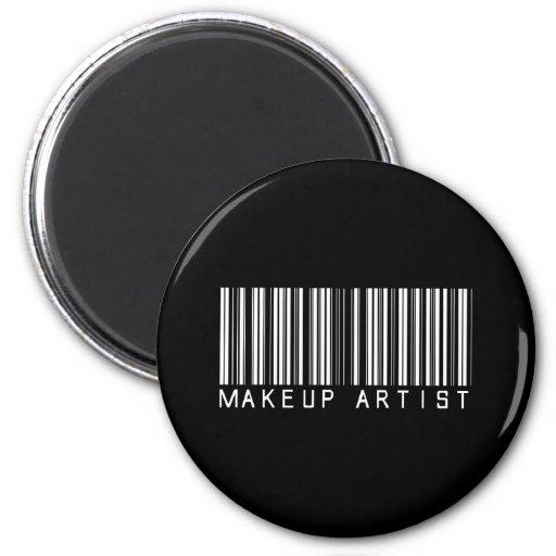 Clave de barras del artista de maquillaje imán redondo 5 cm