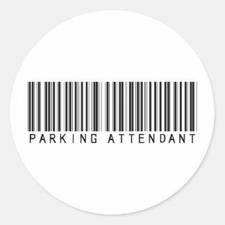 Clave de barras del asistente de estacionamiento etiqueta redonda