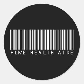 Clave de barras del asistente de las asistencias s etiquetas redondas