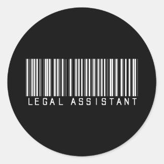 Clave de barras del asistente legal pegatinas redondas