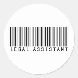 Clave de barras del asistente legal pegatinas