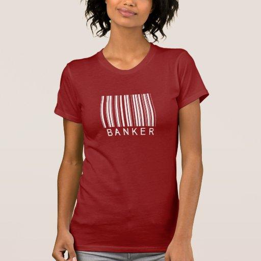Clave de barras del banquero camisetas