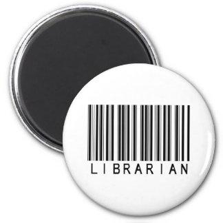 Clave de barras del bibliotecario iman de nevera