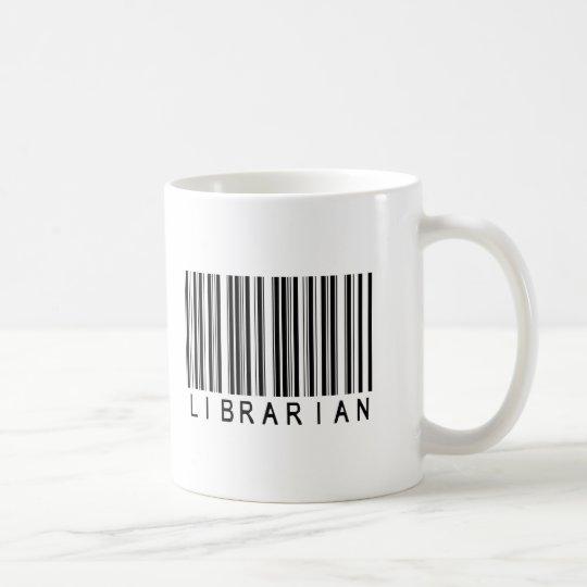Clave de barras del bibliotecario taza de café